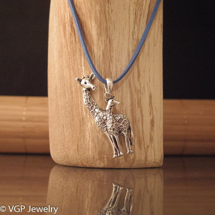 Grote Giraf Ketting: suede ketting diverse kleuren