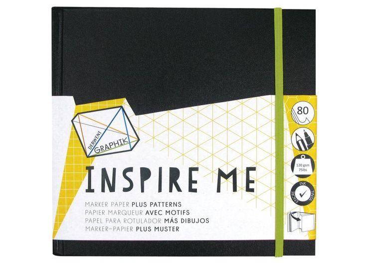 Блокнот для графических работ INSPIRE ME средний 200mm x 200mm, 80 листов, 120 гр, линованная бумага (точки, треугольники, шестиугольники, клетка) DE2302237 Derwent купить