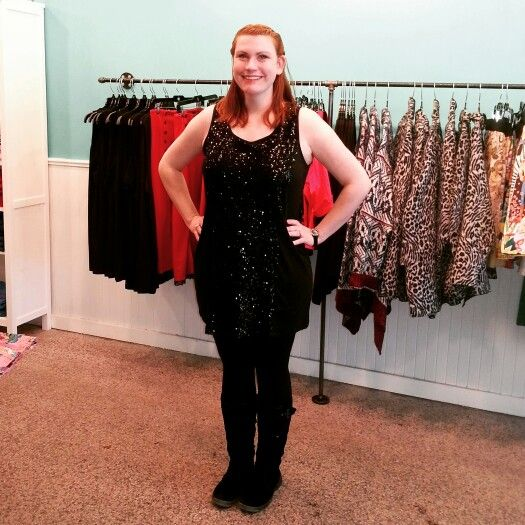 Lindsay looking sparkly in this new tunic!! #effyourbeautystandards #Renegade #ldnont #plussizestore - Curvy Fashion - Plus Size - Bold - Unique - Renegade