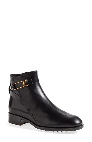 Clean And Vouge Leather Boots Black Tod's Chain trimmed Chelsea