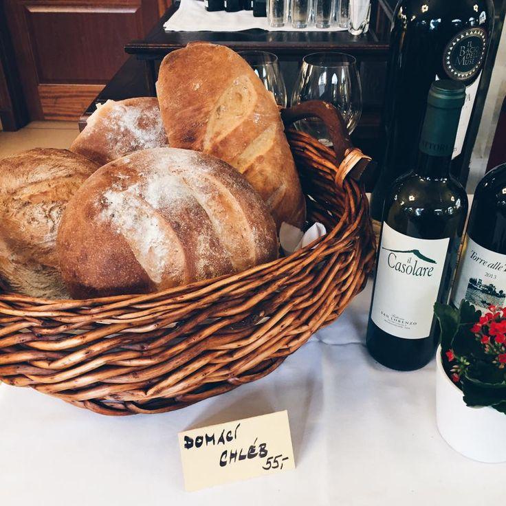 Homemade bread in Caffe Dell' Artista