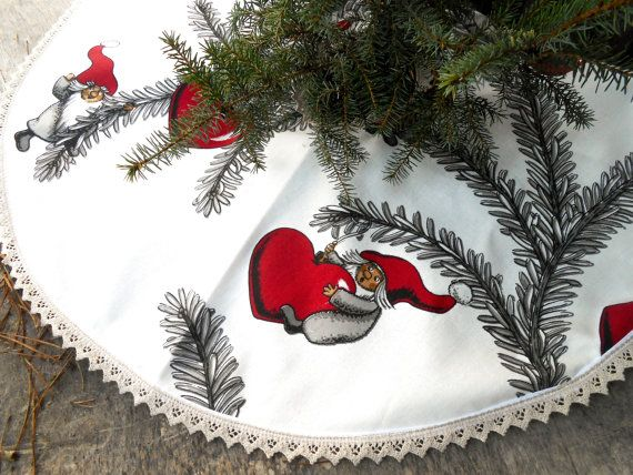 Christmas Tree Skirt Christmas Decor Holiday Decor Scandinavian Christmas Gift…