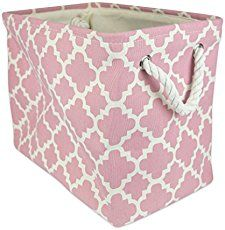 Cover a diaper box with fabric for a cute, inexpensive storage solution.