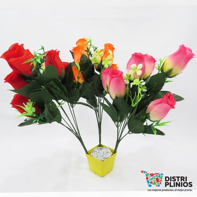 Hermoso ramo de rosas por 7 unidades en tres diferentes colores rosado, rojo y naranja, ideal para toda ocasión. Venta mínimo una docena, se puede vender la docena surtida en colores. Los precios de nuestro sitio web son al por mayor, el costo de los productos se incrementa en compras por unidad, cualquier inquietud comuníquese al 320 3083208 o al 3423674 o visítenos en la Calle 12 B # 8a – 03 Centro, Bogotá, Colombia.