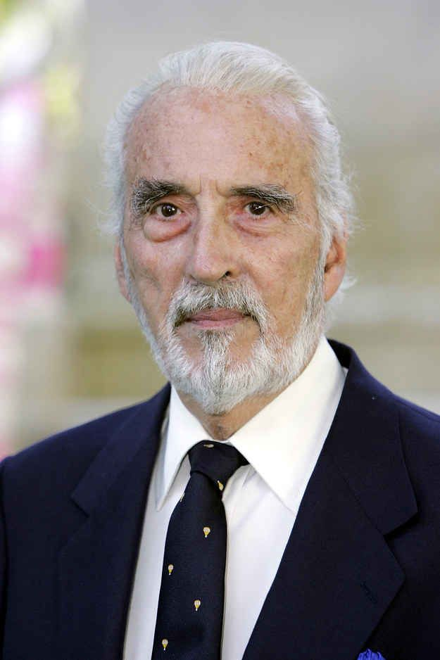 This is Sir Christopher Lee.