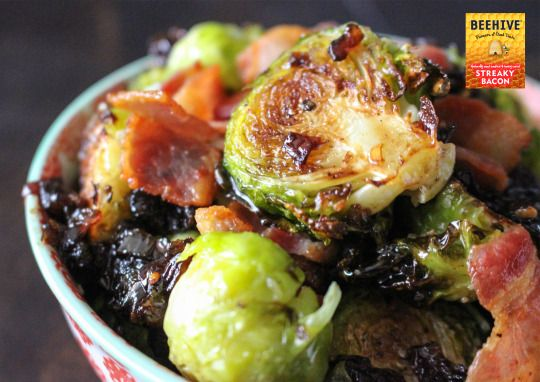 Brussels Sprouts with Caramelised Onions & Bacon