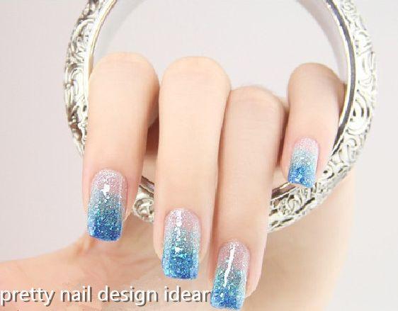 Nails Art nails nail gems blue nail pink and white nails nail rhinestones nail piercing