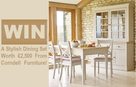 Win A Stylish Dining Set Worth £2,500 From Corndell Furniture