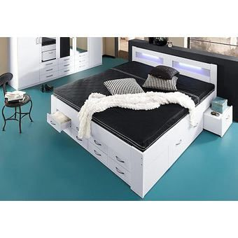 die besten 25 bett mit stauraum 180x200 ideen auf. Black Bedroom Furniture Sets. Home Design Ideas