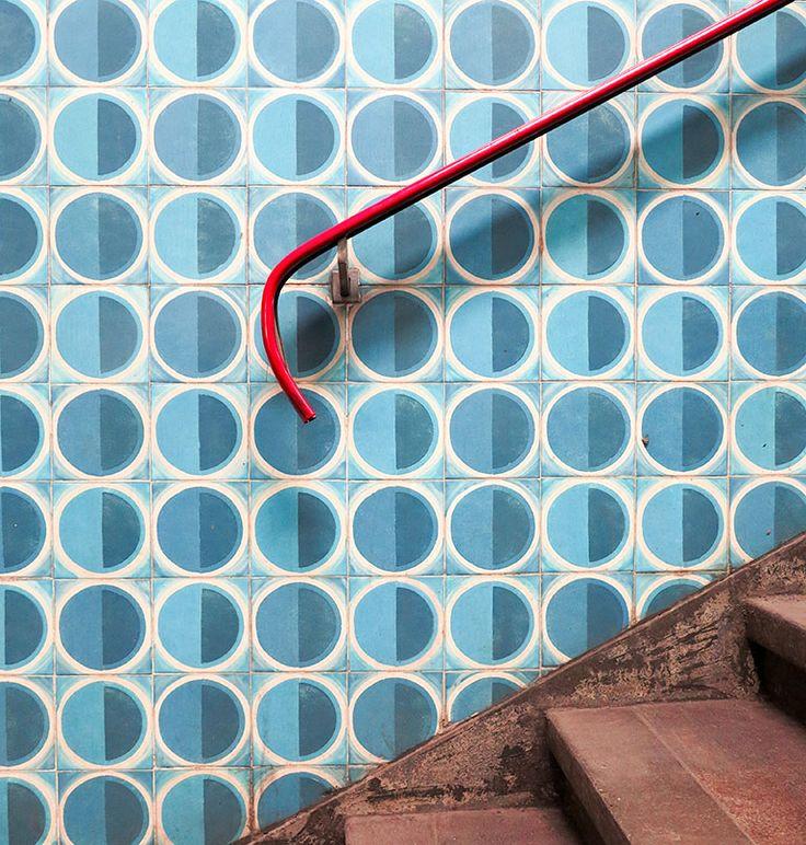 Anjos Metro Lisbon. Tile by Maria Keil. Photo: Heather Moore