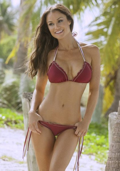 Go Seminoles! Root for your team in this adorable little FSU inspired triple string bikini. This is the perfect gift for sports fanatics, FSU Alumni, or even the girl whose boyfriend can't get enough of Tally! Imagine wearing this cute top with a pair of high waisted shorts while tailgating. The strings on the triangle bikini top and tie sides bottom are multi-colored, and feature the Noles signature colors! The scrunch butt bottom finishes this bikini off!. #didikini #scrunchbutt #fsu…