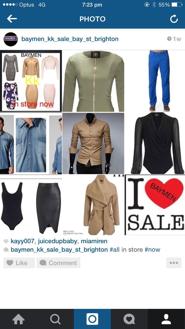 Mens ladies fashion store bay st brighton Le sands BAYMEN