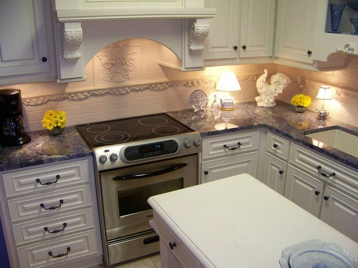 Blue Bahia Granite Countertops Look Great With White Cabinetry