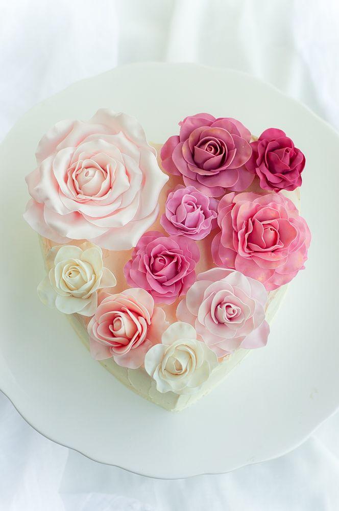 Rose Heart Cake