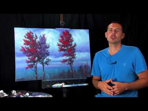Free Full Length Unique Landscape Painting Lesson Video by Tim Gagnon Watch Now!