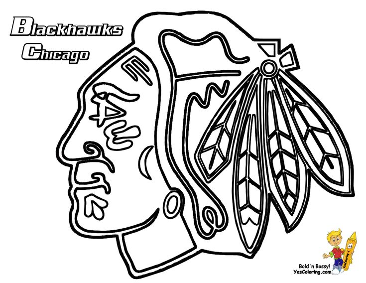 Chicago Blackhawks Coloring Page. Get the other hockey teams coloring pages. You Can Print Out This #Hockey #Coloring-Page Now... http://www.yescoloring.com/images/07_Chicago_Blackhawks_hockey_at_coloring-pages-book-for-kids-boys.gif