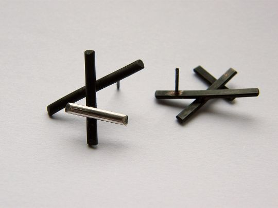 Silver Studs – XX. handmade silver post earrings – a unique product by LydiaRED on DaWanda
