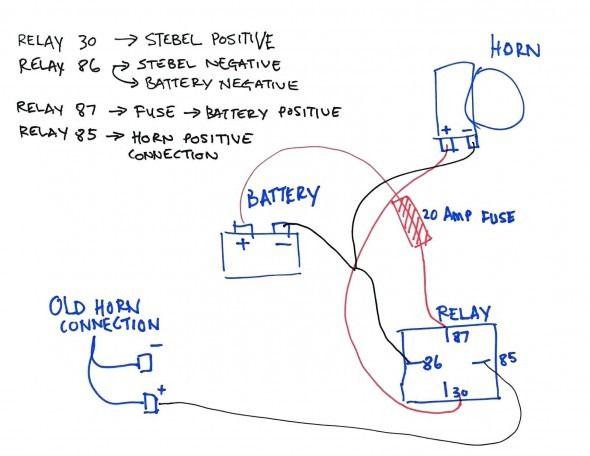 gm horn wiring diagram   diagram, wire, horns  pinterest