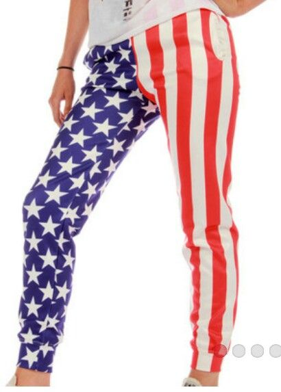 Anerican flag joggers
