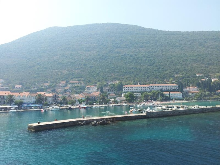 The beautiful Trpanj in Peljesac, Croatia taken while departing on the car ferry to Ploce. http://croatianstonehouse.com