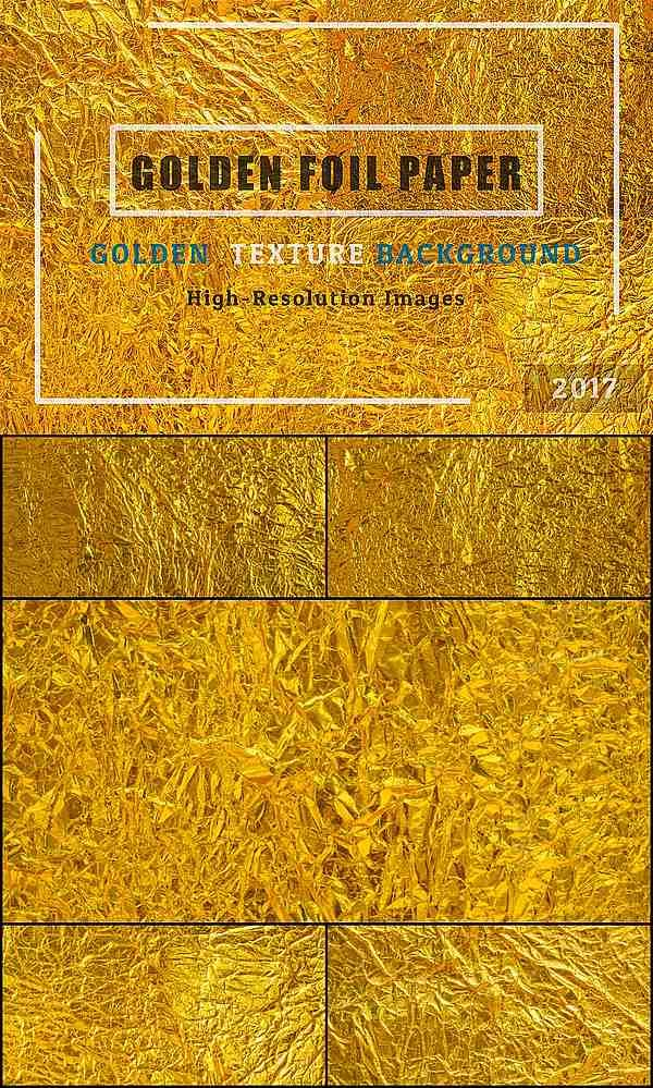 Golden foil paper texture #golden #textures