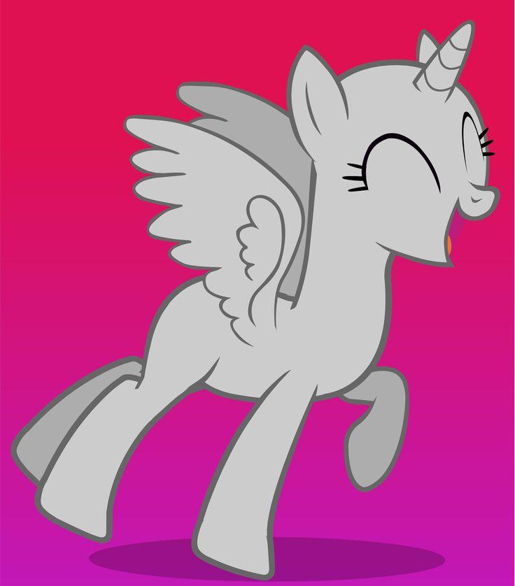MLP - Happy Alicorn Pony Jumping (Flash Base)