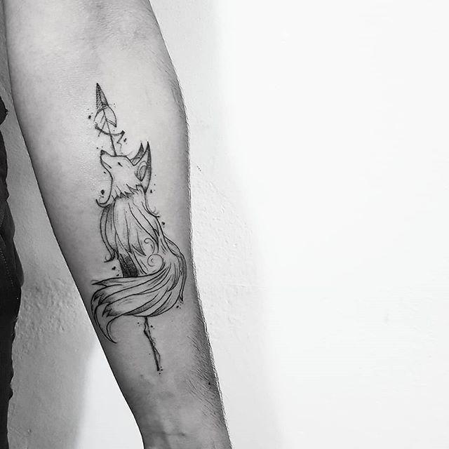 Pecado Da Ganancia Raposa Feita Pela Maands Tattoos Orcamentos Whats 11 98333 1056 Cooltattoos Tattoos Body Art Tattoos Fox Tattoo Design