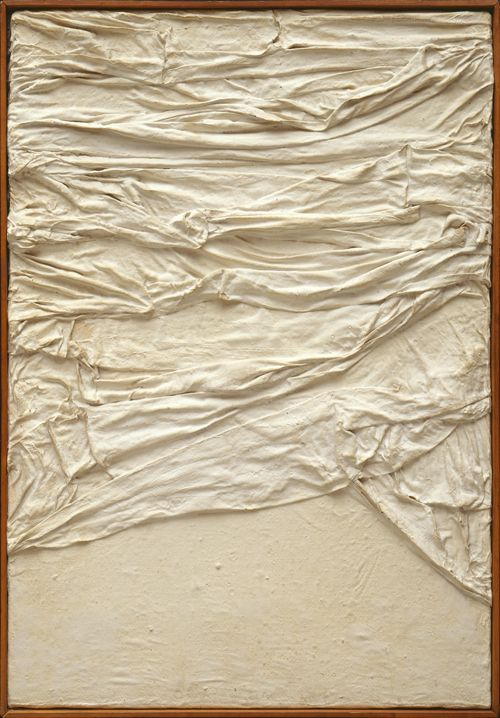 Piero Manzoni, Achrome, 1958-59, Fabric and gesso on canvas, 70.5 x 50.2 cm, ...  arttattler.com
