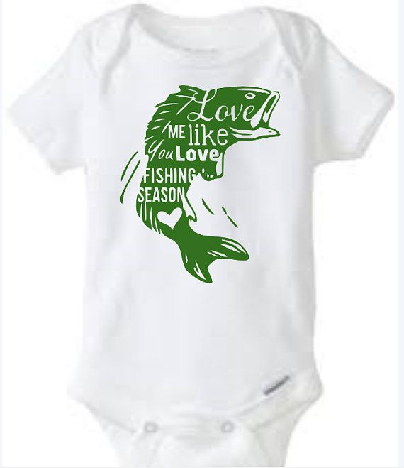 Fishing Season Love Baby Girl Boy Toddler Onesie Tshirt