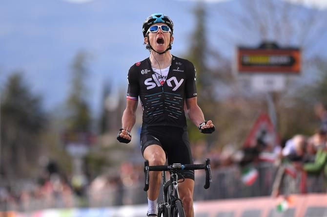 Geraint Thomas wins stage 2 at Tirreno-Adriatico