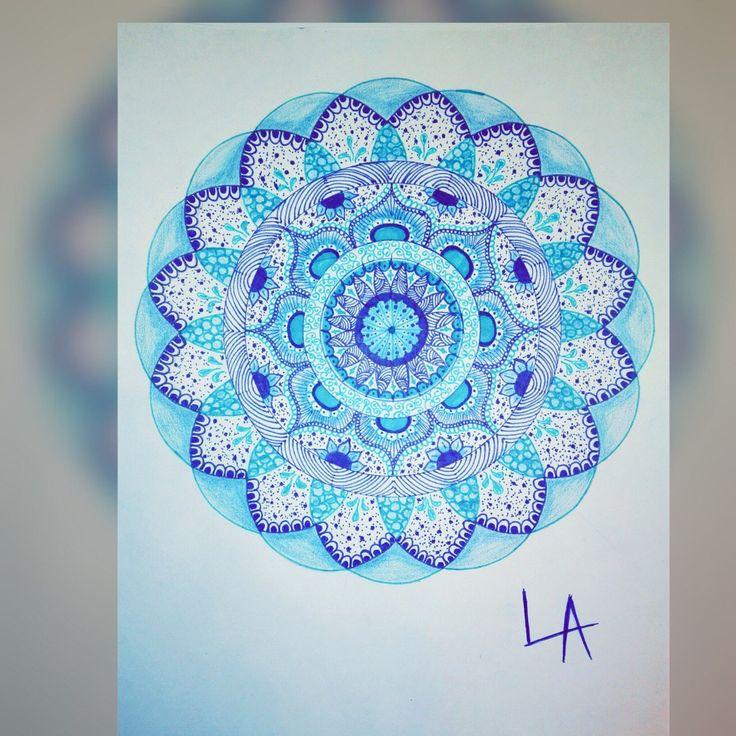 Зентангл Zentangle Mandala