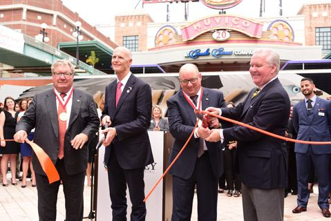 Ashley Global Retail cuts ribbon on Tampa facility Ashley Home Store Furniture Today