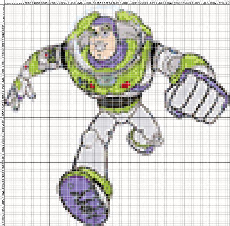 Dibujos Punto de Cruz Gratis: ToyStory