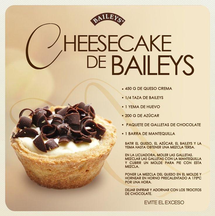 :) Cheesecake de Baileys. | Más en https://lomejordelaweb.es/