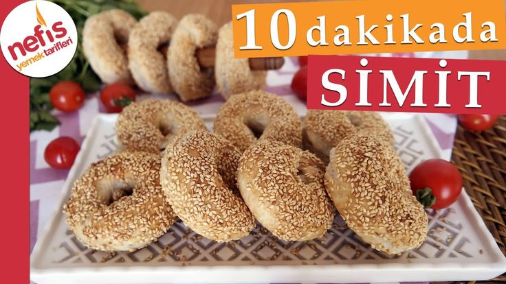 10 Dakikada Simit Tarifi - Kolay Peynirli Simit Tarifi - Nefis Yemek Tar...