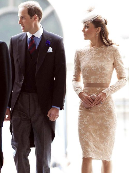 William and Kate attending the Queen's Diamond Jubilee Thanksgiving Service at St. Paul's Cathedral. June 5, 2012.