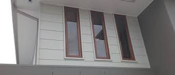This is the type of cladding that will be on the upstairs story - painted in colourbond paperbark.