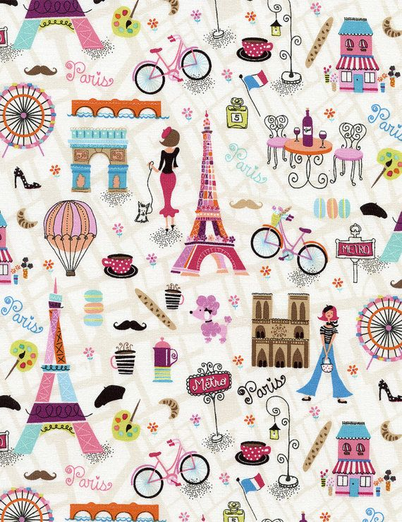 He encontrado este interesante anuncio de Etsy en https://www.etsy.com/es/listing/206079331/1-fat-quarter-fabric-paris-fabric