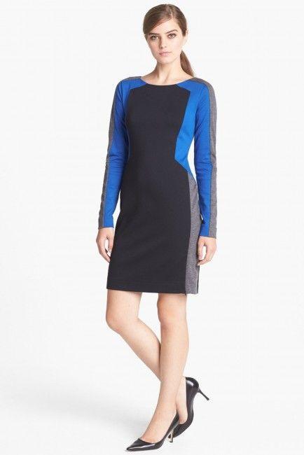 Trouve Colorblock Sheath Dress