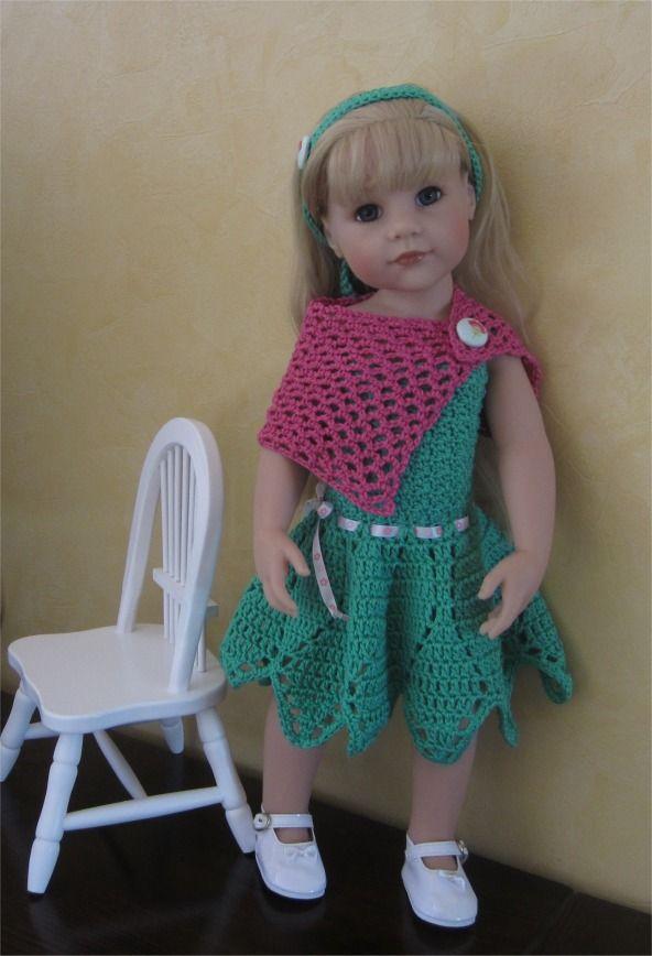 71- FICHE PATRON CROCHET Tenue Sarah pour poupée Hannah de GOTZ : Jeux, jouets par atelier-crochet