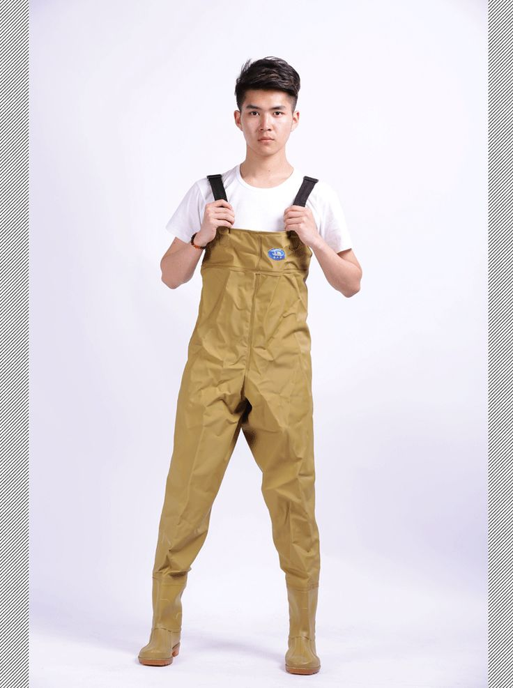 ==> [Free Shipping] Buy Best 0.75mm Thickening Wading Rain Pants Fishing Raincoat Chest Waders Waterproof Fishing Clothes khaki Strong Rubber Material Online with LOWEST Price | 32609915571