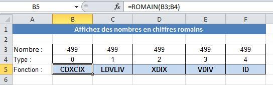 Transformer vos nombres ou dates en chiffre Romain