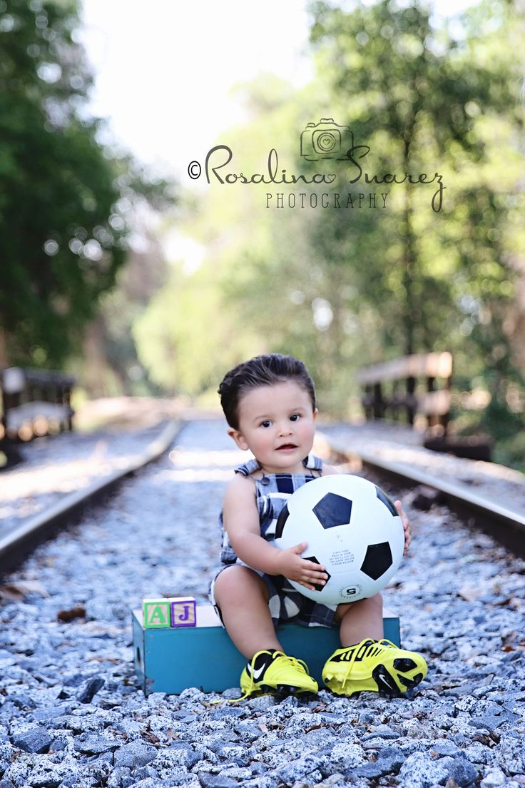 first birthday, toddler photo, soccer themed, 1 year old