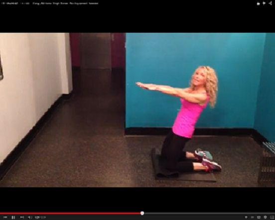 Thigh Blaster! Easy, At-Home Thigh Toner: No Equipment Needed! Keep your abs tight as you do this and lean back about 45 degrees. Squeeze your quadriceps to pull your body forward and back. Complete 20 repetitions, take a short break and do three sets. Hello Sexy legs, is that you we see sporting Daisy Dukes?! …