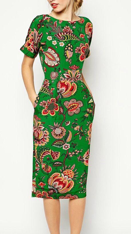 pretty paisley print dress
