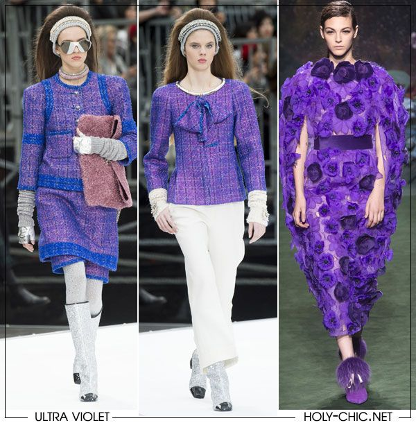 Ultra Violet in Chanel FW 2017 and Fendi Couture collection 2018 #chanel #fendi #fashion #trends2018 #ultraviolet