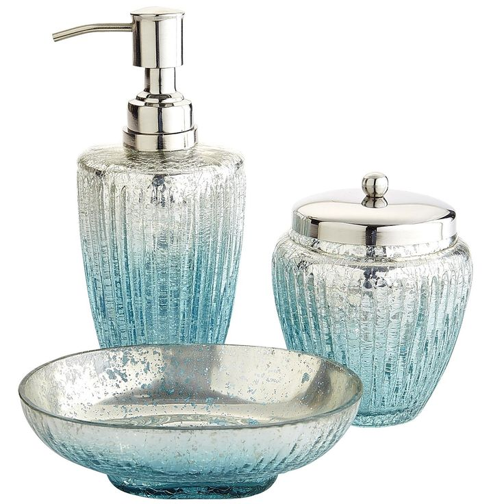 Juliette Glass Bath Accessories