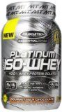 MuscleTech Platinum 100% ISO Whey 100% Whey Protein Isolates Powder Gourmet Milk Chocolate 1.79 lbs (812g) Reviews
