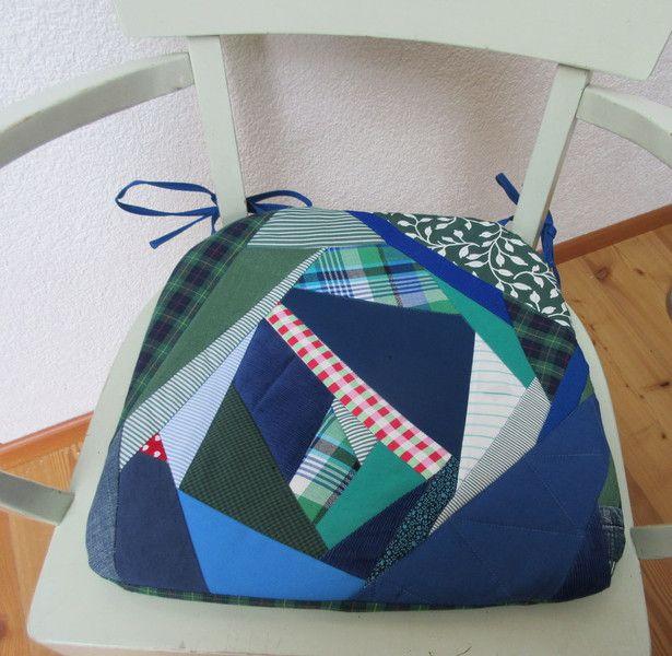 """+Stuhlkissen+Stuhlauflagen+bunt++""""Upcycling""""+von+Gasani++auf+DaWanda.com"""