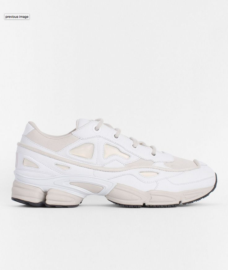 The RS Ozweego III in White/Talc/White from adidas by Raf Simons are the  latest iteration of the forward-looking Ozweego family, featuring a  two-tone ...